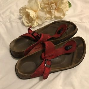 Birkenstock Betula red footbed sandals